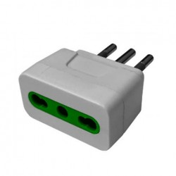 Adaptador Enchufe 16 a 10A. Blanco