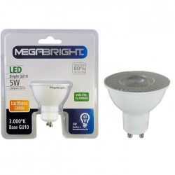 Ampolleta Led GU-10 Megabright 6.5W Blanco Cálido 3000K