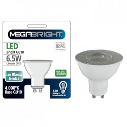 Ampolleta Led GU-10 Megabright 6.5W Blanco Neutro 4000K