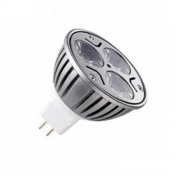 Ampolleta Led MR-16 220V JIE 1x3W Blanco Cálido 3000K.