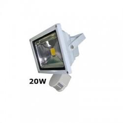 Proyector Led Exterior con Sensor de movimiento IP 65 20W 3000K Blanco Cálido